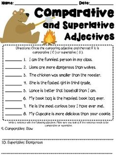 1st Grade Word Problem Worksheets Excel Comparative And Superlative Adjectives Worksheet   Students Are  Paraphrase Worksheets Pdf with Class Planning Worksheet Comparative And Superlative Adjectives Worksheet Lg Skip Count By 3 Worksheet Word