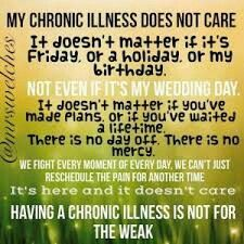 My life with my chronic illnesses