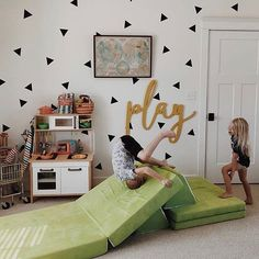 Home Decor + Furniture Recommendations From Childhood Development Specialists To Create Active Play Areas, Sensory Retreats, and Productive Workspaces For Kids. Playroom Furniture, Playroom Decor, Kids Decor, Home Decor, Playroom Design, Playroom Ideas, Decor Ideas, Kids Couch, Ideas Habitaciones