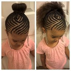Here is Girl Hairstyle Braids Ideas for you. Girl Hairstyle Braids little black girls hairstyles little girl hairstyles. Lil Girl Hairstyles, Cute Hairstyles For Kids, Girls Natural Hairstyles, Kids Braided Hairstyles, Princess Hairstyles, African Braids Hairstyles, My Hairstyle, Natural Hair Styles, Teenage Hairstyles