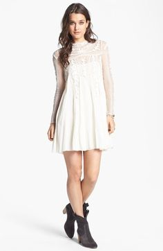 Free People 'Write About Love' Embroidered Cotton Dress | Nordstrom