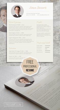 subtle gold an elegant freebie cv template - Free Resume Layout
