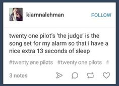 You should make it Blood by MCR so that you have an extra 1:30 of sleep