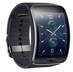 Samsung on Thursday unveiled the Gear S, its latest smartwatch model that also doubles as a smartphone. The device doesn't run Android Wear or Android, and instead relies on Samsung's in-house mobile operating system to get things done. Galaxy Smartphone, New Samsung Galaxy, Android Wear, Wearable Device, Wearable Technology, Wearable Computer, Mobile Technology, Digital Technology, Latest Technology