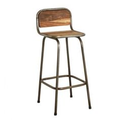 Wood And Metal Bar Stools With Backs Made Reclaimed Recycled Wooden Bar Chairs Bar Stools Uk, Vintage Bar Stools, Bar Stools With Backs, Industrial Bar Stools, Metal Bar Stools, Vintage Industrial Furniture, Cool Chairs, Bar Chairs, Ikea Chairs
