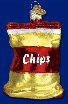 Bag of Chips,  Old World Christmas Glass Ornaments