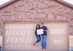 As many times as this session almost didn't happen, I am so happy that it did. This is such a momentous day, and what a great idea to have it captured. First Home Pictures, New House Announcement, Home Photo Shoots, Welcome Home, Housewarming Party, Backyard Patio, Photo Sessions, Picture Photo, Home Remodeling