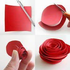 Tutoriales y DIYs: Cómo hacer una rosa de cartulina