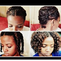 """Wrapped Twistout Tutorial! Link to the tutorial is in the description box in my BIO ⬆️⬆️⬆️⬆️ or google """"StrawberriCurls wrapped twistout tutorial""""  I achieved this with bobby pins! It's a great way to reduce shrinkage if you set you hair while it's wet! #Strawberricurls #Naturalhair"""