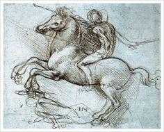 Figure on Horseback Trampling Prostrate Foe,  by Leonardo Da Vinci