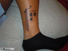 TARDIS Tattoo via geekytattoos