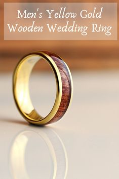 This is one unique men's wedding band. This men's wedding band says classy and modest. This wooden ring is features a rosewood inlay and a yellow gold tungsten core. The perfect wedding ring for the future husband who loves the great-outdoors. Batman Wedding Rings, Ruby Wedding Rings, Cool Wedding Rings, Unique Wedding Bands, Wedding Ring Bands, Unique Weddings, Rose Gold Stackable Rings, Wooden Rings, Delicate Rings