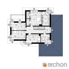 Willa Weronika 3 (P) Traditional House, Habitats, Floor Plans, House Design, Flooring, How To Plan, Two Story Houses, Home Plans, Architectural Plants