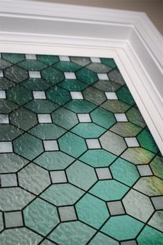 A great idea and easy solution for changing the appearance of a front door and at the same time adding privacy to your home. Our Green Leaded Stained Glass decorative window film creates the appearance of high end glass without the price tag.