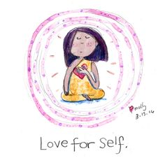Buddha Doodles - Love for self.