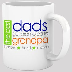 Leather /& Stainless Steel 16 oz Travel Mug Cup Best Dads Get Promoted To Pop Pop