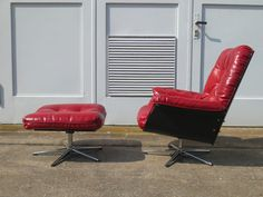 Relax Lounge Sessel Lounge Chair mit Ottomane Vitra Eames Knoll Ära