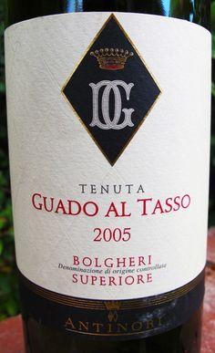 Antinori Guado Al Tasso Bolgheri Superiore #wine