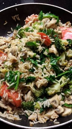 Veggie Rice. Super quick, nutritious dish that is ready before you know it with little effort. Perfect for after a long day. Find how to here: https://www.facebook.com/photo.php?fbid=703521022993444&set=a.687064414639105.1073741827.100000066596384&type=3&theater