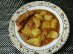 Tocăniţă de cartofi cu afumătură Romanian Recipes, Romanian Food, French Toast, Potatoes, Vegetables, Cooking, Breakfast, Romania, Food