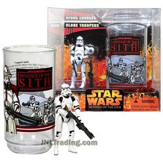 Star Wars Year 2005 Revenge of the Sith Series 4 Inch Tall Figure Set : CLONE TROOPERS with Blaster and Rifle Plus Collectible Cup