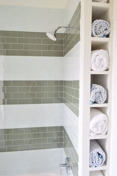 Towel storage, tile for downstairs bath @ Young House Love Small Bathroom, Bathroom Renovation, Bathroom Inspiration, Boys Bathroom, Bathroom Decor, Bathroom Redo, Bathrooms Remodel, Bathroom Makeover, Tile Bathroom