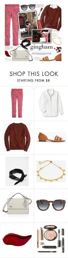 """""""Gingham - exact match"""" by federica-m on Polyvore featuring Madewell, Henri Bendel, Lacoste, J.Crew, Whiteley, ASOS and Kat Von D"""