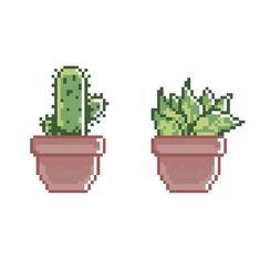 Cacti and succulents. Game Design, Design Club, Cool Pixel Art, Pixel Characters, 8bit Art, Pixel Art Games, Fuse Beads, Hama Bead, Bead Art
