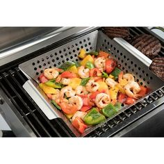 Cuisinart's Stainless Steel Grill Wok will help you cook up delicious stir fry and other fun dishes right on the grill. Grill Skillet, Wok Recipes, Grill Basket, Grill Rack, Stainless Steel Grill, Deep Dish, Stir Fry, Grilling, Dishes