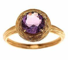 Adi Paz Textured Round Gemstone Stack Ring 14K Gold. #PRAllStars