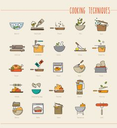 Cooking Techniques Icon Set on Behance