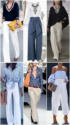 Business Casual Outfits, Classy Outfits, Stylish Outfits, Fashion Outfits, Womens Fashion, Girls Night Dress, White Pants Outfit, Casual Chique, Paris Outfits
