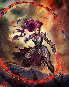 """Hi guys! This is an image done as a cover for the upcoming """"The Art of Darksiders III"""" published by the awesome guys at I hope you like it! Darksiders Horsemen, Darksiders Iii, Larp, Geeks, Dark Siders, Character Art, Character Design, Character Ideas, Horsemen Of The Apocalypse"""