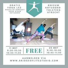 Have you been wanting to try yoga? Then here is your chance! Bridge of Life studio is organizing free yoga classes in collaboration with @marianne_bruins @mariekedegrootvandenbrink @w.v.rijzewijk and @nieuwrotsoord 😃 You can join the free classes through the Bridge of Life studio website (link in profile)  #yoga #freeyoga #yogaclass #bridgeoflife #bridgeoflifestudio #wellness #yogateacher #extendedsideanglepose #extendedsideangle #yogapose #utthitaparsvakonasana Side Angle Pose, Free Yoga Classes, Organizing, Organization, Website Link, Yoga Teacher, Yoga Poses, Collaboration, Bridge