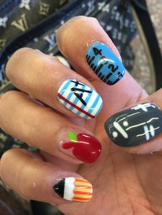 September back to school nails