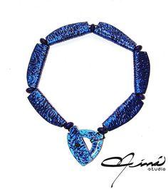 Azul Mariposa - Butterfly Blue | por María Eva Ramos - Niná Studio  #UnicaConNinaStudio #Necklaces #Reversibles #HechoAMano, #Handmade #AmazingAccesories #PolymerClayJewelry #VenezuelanDesign #designersvenezuela