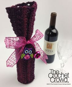 The Crochet Crowd 12 days of Christmas 2013  Gift #1 the Sangria Wine Bottle Cover