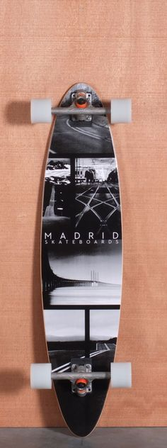 "Madrid 38.5"" Collage Longboard Complete"