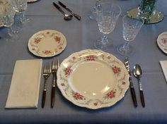 Setting the table with Royal Albert Tranquility china pattern,  and Kylemore…
