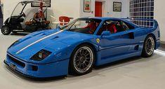 Blue Ferrari F40 With Tricolore Stripe Is A Head Turner