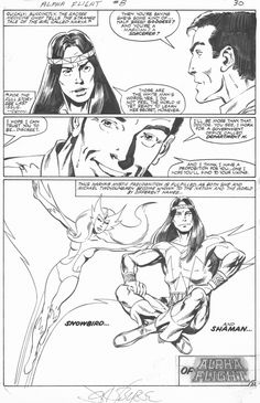 Alpha Flight #8, page 22 by John Byrne & Andy Yanchus. 1984.
