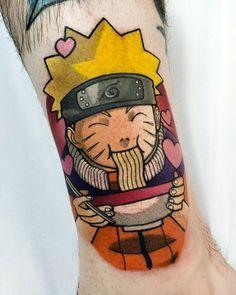 """𝗝 𝗼 𝘁 𝘂 𝗻 𝗻 on Instagram: """"❌ NARUTO ❌  Eu tenho um sonho... de comer um ramen no RamenIchiraku. Haha  #bh #bhtattoo #tattoobh #animetattoo #animetattoosz…"""" Tattoos Skull, Anime Tattoos, Cute Tattoos, Beautiful Tattoos, Hand Tattoos, Dog Tattoos, Body Art Tattoos, Sleeve Tattoos, Tattoo Bh"""