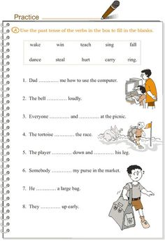 Grade 3 Grammar Lesson 9 Verbs - the simple past tense English Grammar For Kids, English Worksheets For Kids, 2nd Grade Worksheets, Learn English Words, English Vocabulary, Grammar Activities, Teaching Grammar, Grammar Lessons, Grammar Practice