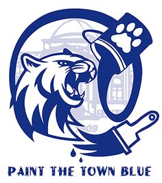 paint the town blue winning t shirt logo design congratulations to staci