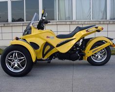 Can Am Style Reverse Trike Motorcycle 250 Cc Spyder Unicycle 3rd Wheel