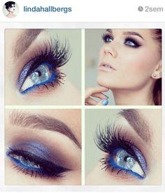 All blue eye makeup