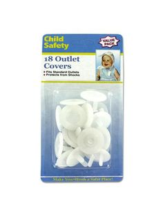 Child Safety Electrical Outlet Covers (Available in a pack of 20)