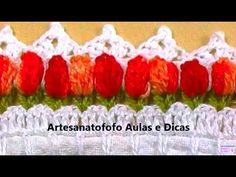 As Receitas de Crochê: Barrado de crochê de tulipas