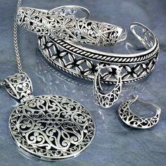 silver jewelry - Google Search