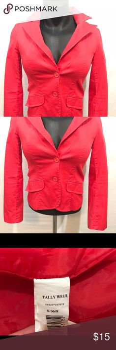 Women's Tally WEIJL Red Blazer Polyester Small Beautiful red Jacket, Pre-Owned in great condition. Tally Weijl Jackets & Coats Blazers